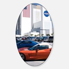 NASA vehicle assembly building Sticker (Oval)