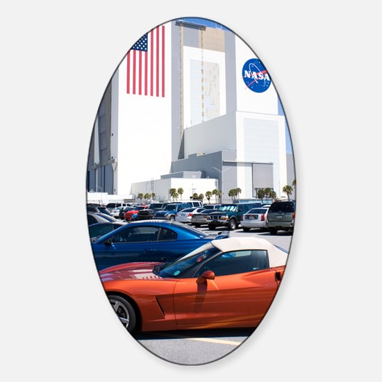 NASA vehicle assembly building Sticker (Oval)