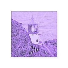 "Lighthouse Art Square Sticker 3"" x 3"""