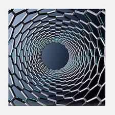 Nanotube technology, computer artwork Tile Coaster