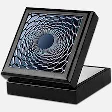 Nanotube technology, computer artwork Keepsake Box
