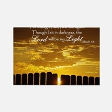 Lord will be my Light Rectangle Magnet