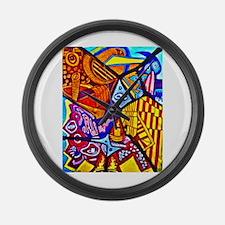 Modern Abstract Art Large Wall Clock