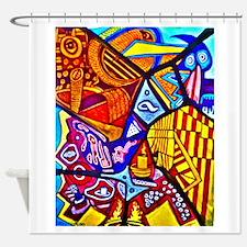 Modern Abstract Art Shower Curtain