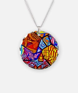 Modern Abstract Art Necklace