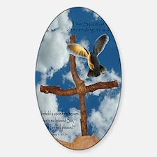 Spirit of God like a Dove Sticker (Oval)