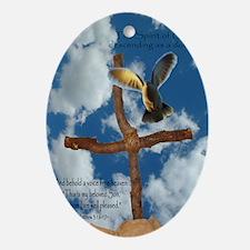 Spirit of God like a Dove Oval Ornament