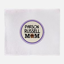 Parson Russell Dog Mom Throw Blanket
