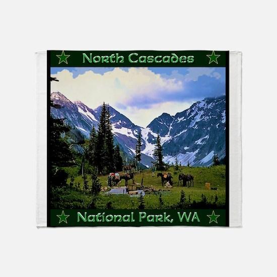North Cascades National Park Throw Blanket