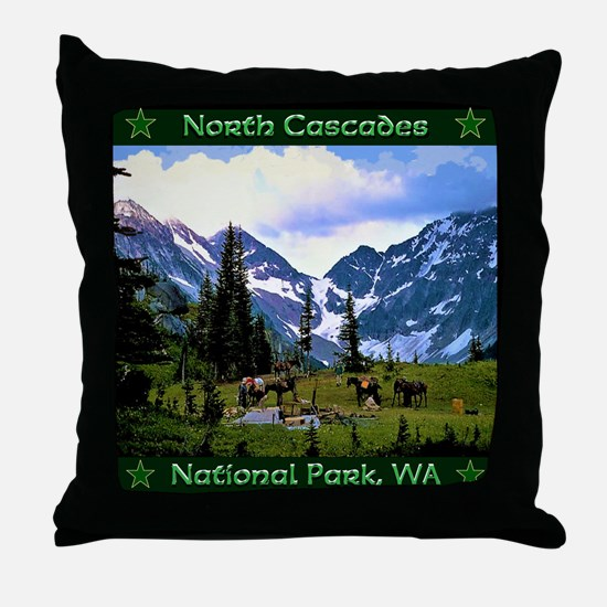 North Cascades National Park Throw Pillow