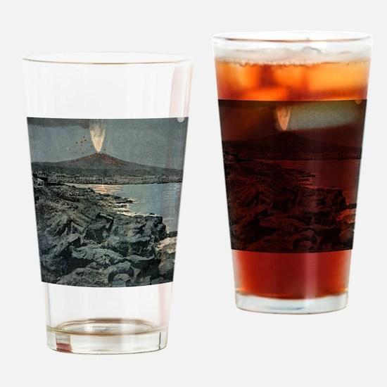 Mount Etna erupting, artwork Drinking Glass