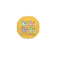 Colorful Kittens Mini Button