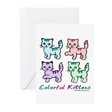 Colorful Kittens Greeting Cards (Pk of 10)