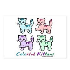 Colorful Kittens Postcards (Package of 8)
