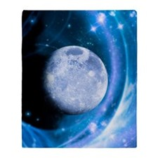 Moon and stars, artwork Throw Blanket