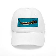 Mosquito larva, light micrograph Baseball Cap