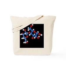 Molecular model of the sugar D-Lactose Tote Bag