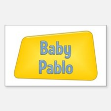 Baby Pablo Rectangle Decal