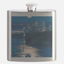 Moon over Vancouver Flask