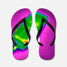 Mobile phone on charge, thermogram Flip Flops