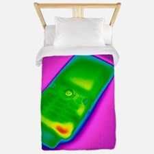 Mobile phone on charge, thermogram Twin Duvet