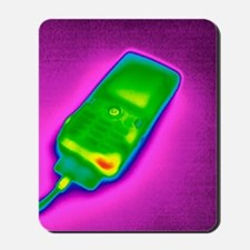 Mobile phone on charge, thermogram Mousepad
