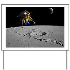 Moon lander, artwork Yard Sign