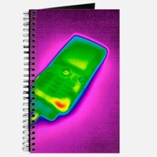Mobile phone on charge, thermogram Journal