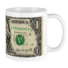 Money worries, conceptual artwork Mug