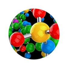 """Molecular structure 3.5"""" Button"""