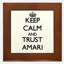 Keep Calm and trust Amari Framed Tile