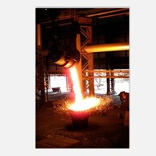 Molten steel slag being p Postcards (Package of 8)