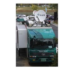 Mobile bank with satellit Postcards (Package of 8)