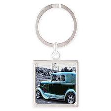 Blue-Gray Mafia Staff Car Square Keychain