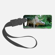 Model triceratops dinosaur Luggage Tag