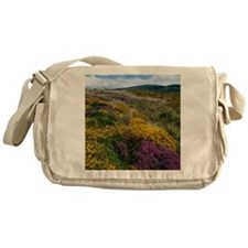 Mixed wildflowers on moorland Messenger Bag