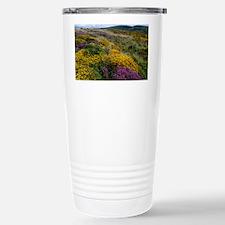 Mixed wildflowers on moorland Travel Mug