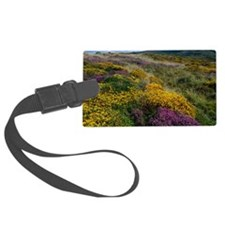 Mixed wildflowers on moorland Luggage Tag