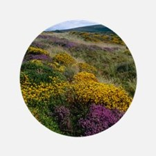 "Mixed wildflowers on moorland 3.5"" Button"