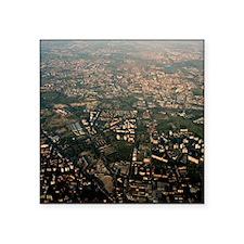 "Milan, Italy, aerial photog Square Sticker 3"" x 3"""