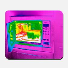 Microwave, thermogram Mousepad
