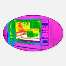Microwave, thermogram Decal