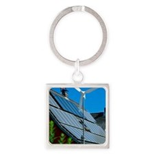 Microgeneration power technology Square Keychain