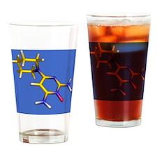 Minoxidil hair loss drug molecule Drinking Glass