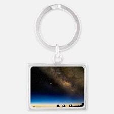 Milky way and observatories, Ha Landscape Keychain
