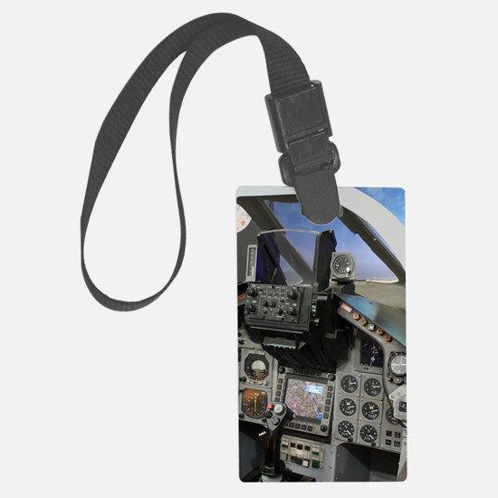 Military aircraft cockpit Luggage Tag