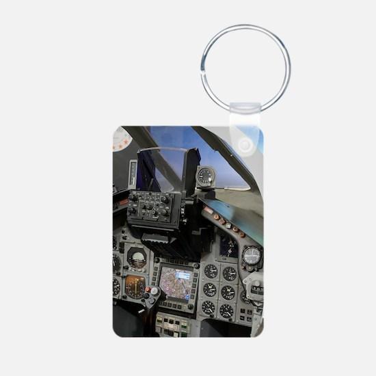 Military aircraft cockpit Keychains