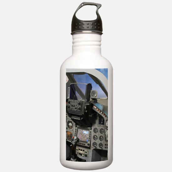 Military aircraft cock Water Bottle