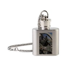 Military aircraft cockpit Flask Necklace