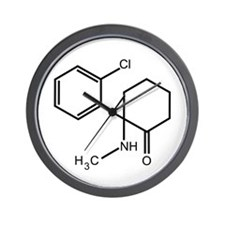 Ketamine Wall Clock